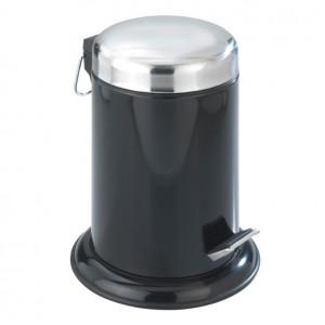 Cos de gunoi negru/argintiu din inox si polipropilena 3 L Retoro Wenko