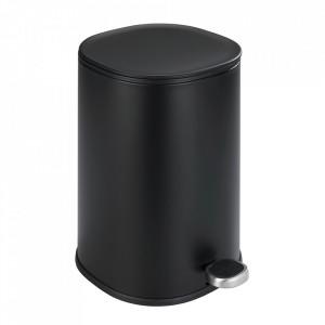 Cos de gunoi negru din otel 5 L Nant Wenko
