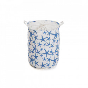 Cos de rufe alb/albastru din poliester 38x48 cm Blue Sea Laundry Versa Home