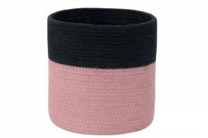 Cos negru/roz din bumbac Dual Black-Ash Rose Lorena Canals