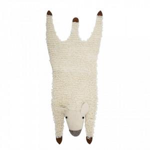 Covor alb pentru copii din lana 50x120 cm Sheep Bloomingville Mini