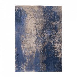 Covor albastru din bumbac si poliester Mad Man Abyss Blue Louis de Poortere (diverse dimensiuni)