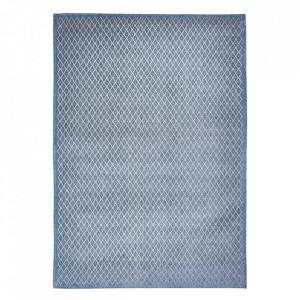 Covor albastru din bumbac si poliester Rombo Blu Grigio Louis de Poortere (diverse dimensiuni)