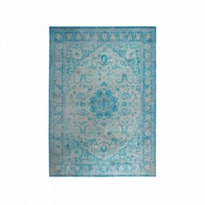 Covor albastru din viscoza si poliester 160x230 cm Chi Blue White Label