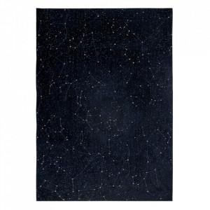 Covor albastru/negru din bumbac si poliester Celestial Night Sky Louis de Poortere (diverse dimensiuni)