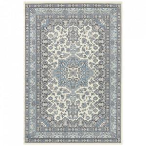 Covor crem/albastru din polipropilena Mirkan Parun Tabriz Nouristan (diverse dimensiuni)
