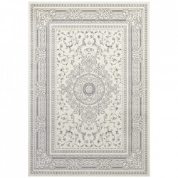 Covor crem/gri antracit din bumbac si viscoza 160x230 cm Classic The Home