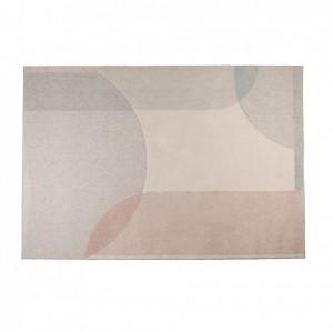 Covor din lana gri/roz 160x230 cm Dream Natural/Pink Zuiver