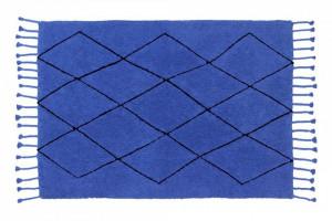 Covor dreptunghiular albastru din bumbac 140x200 cm Bereber Sapphire Lorena Canals