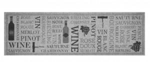 Covor gri bucatarie din poliamide 45x140 cm Runner Wine Zala Living