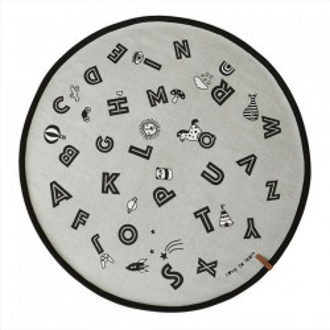 Covor gri deschis din bumbac 120 cm The Alphabet Oyoy