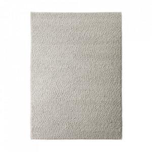 Covor gri deschis din lana si bumbac 170x200 cm Gravel Menu