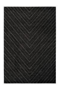 Covor gri grafit din polipropilena Swing Uni Lalee (diverse dimensiuni)
