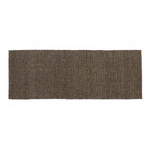 Covor gri/maro din lana si poliester 75x200 cm Fia Nordal