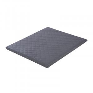 Covor joaca gri inchis din PVC 72x93 cm Alan Quilted Quax