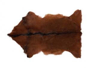 Covor maro din blana naturala de capra 50x90 cm Goat Fur LifeStyle Home Collection