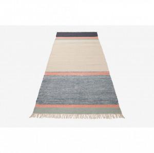 Covor multicolor din lana 250x80 cm Twine Blue Mix Bolia