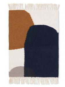 Covor multicolor din lana si bumbac 50x70 cm Kelim Merge Ferm Living