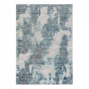 Covor multicolor din lana si viscoza Erode Blue Ligne Pure (diverse dimensiuni)