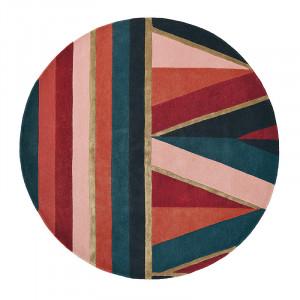 Covor multicolor din lana TB Sahara-Burgun Round Brink & Campman (diverse dimensiuni)