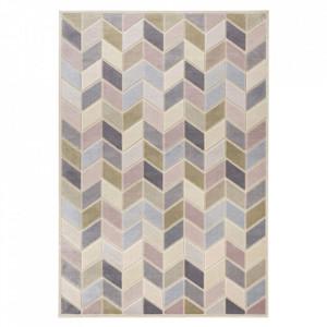 Covor multicolor din viscoza si poliester Creative Loire Multi Elle Decor (diverse dimensiuni)