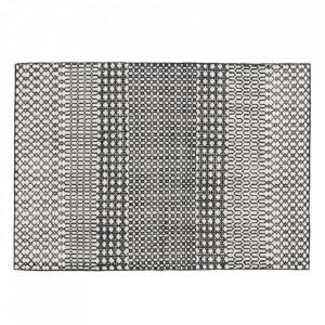Covor negru/alb din lana 140x200 cm Switch Versmissen