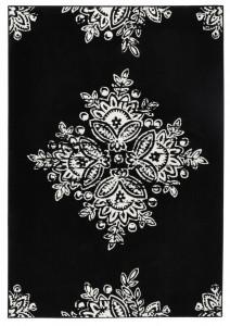 Covor negru Gloria Blossom Hanse Home (diverse marimi)