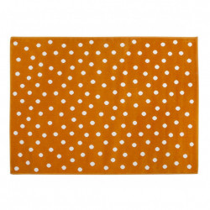 Covor portocaliu din fibre acrilice 120x160 cm Dots Lorena Canals