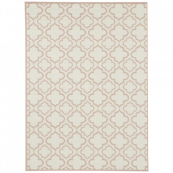 Covor roz/crem din polipropilena Retro Rose Geometric The Home (diverse dimensiuni)