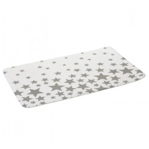 Covoras alb/gri din microfibra pentru baie 45x70 cm Star Unimasa