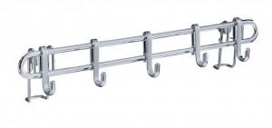 Cuier argintiu din metal Hook Strip Style Wenko
