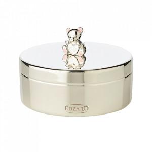 Cutie cu capac din metal argintat pentru bijuterii Mamabear Edzard