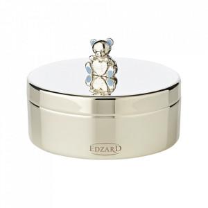 Cutie cu capac din metal argintat pentru bijuterii Papabear Edzard