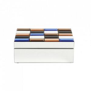 Cutie cu capac multicolora din sticla si MDF pentru bijuterii Miras Mini Nordal