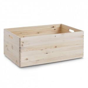 Cutie depozitare maro din lemn de pin 40x60 cm Softwood Zeller