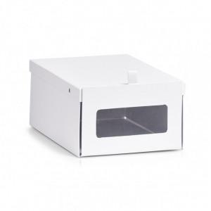 Cutie pentru incaltaminte alba din carton Shoe Box Zeller