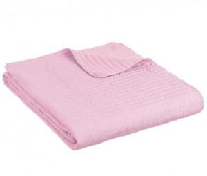 Cuvertura roz din poliester 240x260 cm Trendy Harris Unimasa