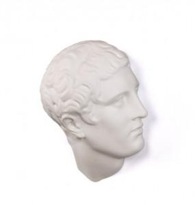 Decoratiune alba din portelan 37 cm Memorabilia Mvsevm Discobolo Head Seletti