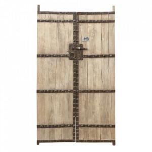 Decoratiune de perete maro din lemn de ulm 130x238 cm Doors Set Versmissen