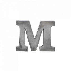 Decoratiune gri din fier 5,5 cm Letter M Madam Stoltz