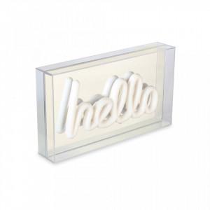 Decoratiune luminoasa alba din plastic Hello Opjet Paris