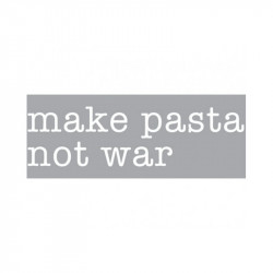 Decoratiune luminoasa alba din sticla Neon Art Make Pasta Not War Seletti