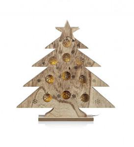 Decoratiune luminoasa LED maro din lemn Hulda Markslojd
