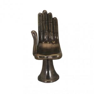 Decoratiune maro bronz din otel 26 cm The Hand Van Roon Living