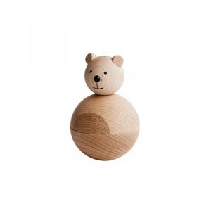 Decoratiune maro din lemn 12 cm Bear Oyoy
