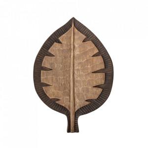 Decoratiune maro din lemn de mango 7 cm Adama Creative Collection