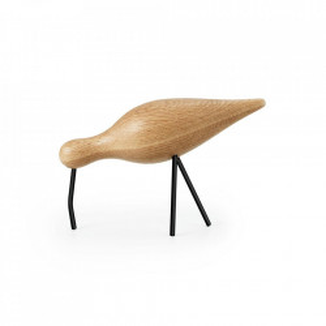 Decoratiune maro/neagra din lemn si otel 14 cm Shorebird Normann Copenhagen