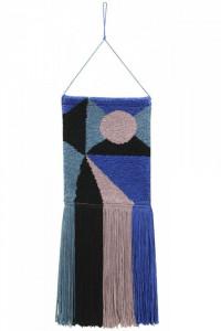 Decoratiune multicolora din bumbac pentru perete 30x90 cm Geometric Lorena Canals