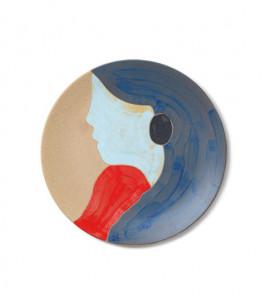 Decoratiune multicolora din ceramica pentru perete 37,5 cm Tala Ferm Living