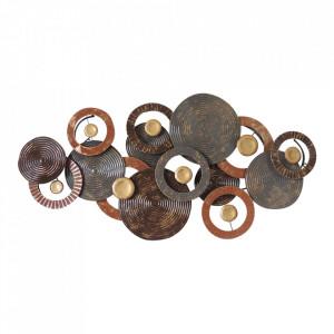 Decoratiune multicolora din metal pentru perete 67x135 cm Willow Ter Halle